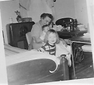 March 1953 with Gramma and first birthday (2)